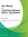 Ken Burge V American Quarter Horse Association