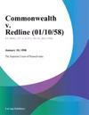 Commonwealth V Redline