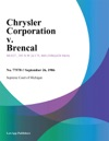 Chrysler Corporation V Brencal