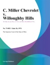 C Miller Chevrolet V Willoughby Hills
