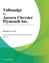 Tallmadge V Aurora Chrysler Plymouth Inc