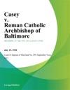 Casey V Roman Catholic Archbishop Of Baltimore
