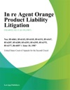 In Re Agent Orange Product Liability Litigation