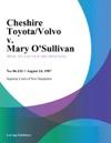 Cheshire ToyotaVolvo V Mary OSullivan