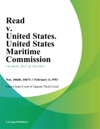 Read V United States United States Maritime Commission