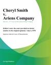 Cheryl Smith V Ariens Company