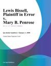 Lewis Bissell Plaintiff In Error V Mary B Penrose