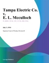Tampa Electric Co V E L Mcculloch
