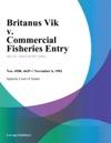 Britanus Vik V Commercial Fisheries Entry