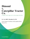 Dimond V Caterpillar Tractor Co