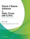 Maxie Clinton Johnson V State Texas
