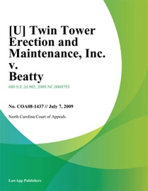 TWIN TOWER ERECTION AND MAINTENANCE
