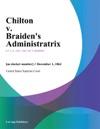 Chilton V Braidens Administratrix