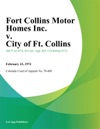 Fort Collins Motor Homes Inc V City Of Ft Collins