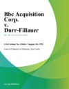 Bbc Acquisition Corp V Durr-Fillauer