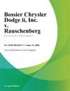 Bossier Chrysler Dodge II Inc V Rauschenberg