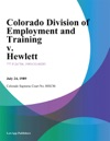 Colorado Division Of Employment And Training V Hewlett