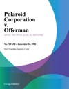 Polaroid Corporation V Offerman