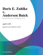Doris E. Zuhlke v. Anderson Buick
