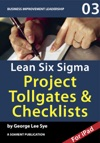 Lean Six Sigma Project Checklists And Tol
