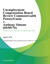 Unemployment Compensation Board Review Commonwealth Pennsylvania V Anthony Simone