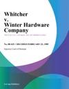 Whitcher V Winter Hardware Company