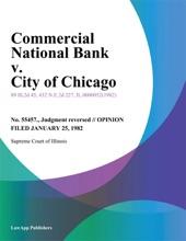 Commercial National Bank v. City of Chicago
