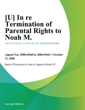 [U] In Re Termination Of Parental Rights To Noah M.