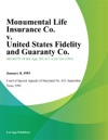 Monumental Life Insurance Co V United States Fidelity And Guaranty Co