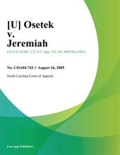 [U] Osetek V. Jeremiah