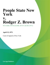 People State New York V. Rodger Z. Brown