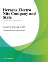 Heraeus Electro Nite Company And State