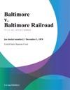 Baltimore V Baltimore Railroad