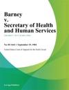 Barney V Secretary Of Health And Human Services