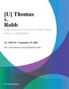 U Thomas V Robb