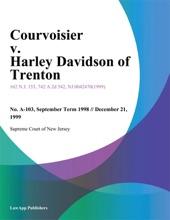 Courvoisier V. Harley Davidson Of Trenton