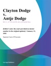 Clayton Dodge V Antje Dodge