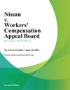Nissan V Workers Compensation Appeal Board
