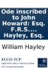 Ode Inscribed To John Howard: Esq. F.R.S. Author Of