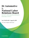 Itt Automotive V National Labor Relations Board