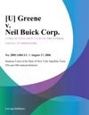 U Greene V Neil Buick Corp