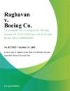 Raghavan V Boeing Co