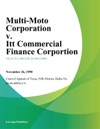 Multi-Moto Corporation V Itt Commercial Finance Corportion