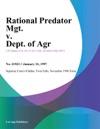 Rational Predator Mgt V Dept Of Agr