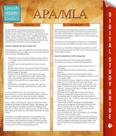 APA/MLA Guidelines (Speedy Study Guides) book
