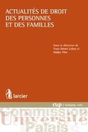 Actualit S De Droit Des Personnes Et Des Familles