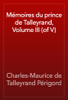 Charles-Maurice de Talleyrand Périgord - Mémoires du prince de Talleyrand, Volume III (of V) artwork
