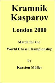 Kramnik Kasparov London 2000