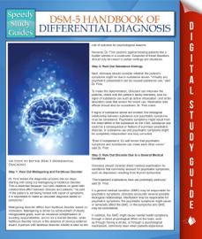 DSM-5 Handbook Of Differential Diagnosis (Speedy Study Guides) book