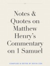 Notes  Quotes On Matthew Henrys Commentary On Job